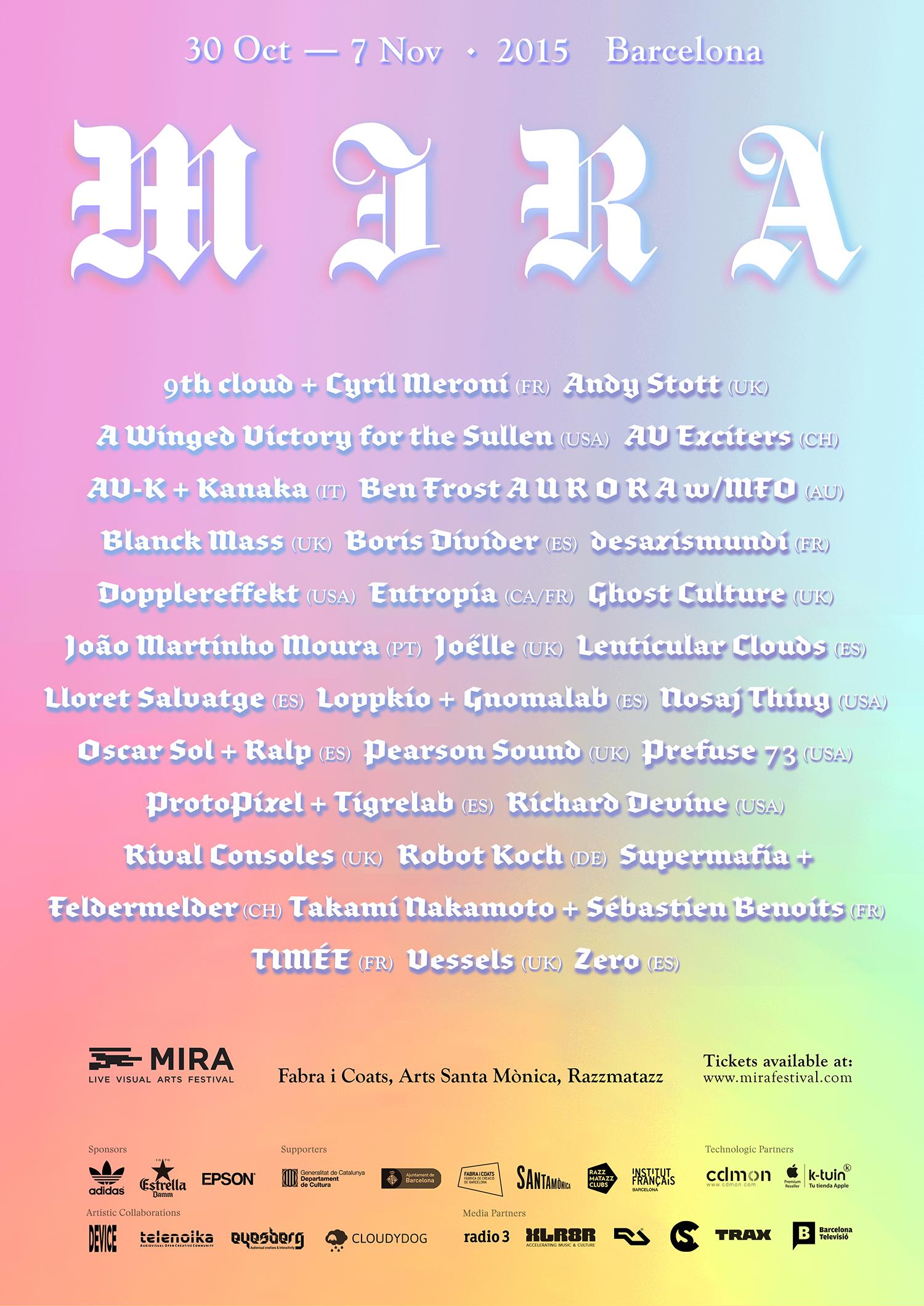 Line Up MIRA 2015